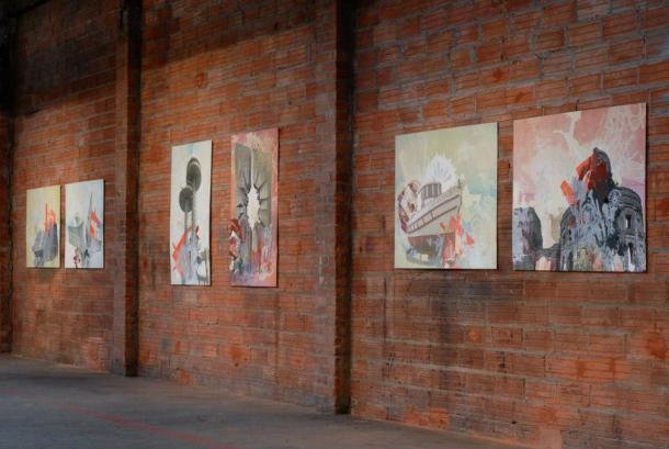 """Installation view, Frol Boundin's """"Last Monuments""""  Image courtesy of Frol Boundin"""